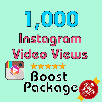 1000 Instagram Video Views FAST!!! - TryFollowers - Cheapest Services