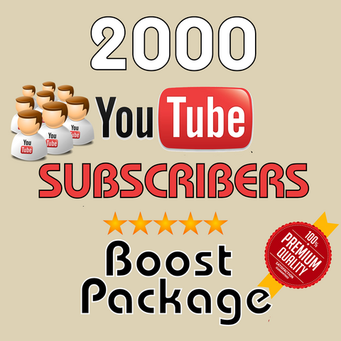 2000 YouTube Real Subscribers - buy instagram followers cheap