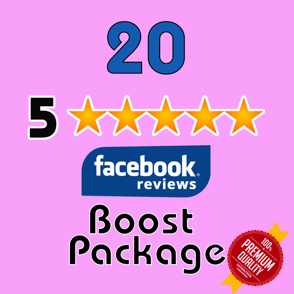 Get 20 Facebook 5 Star Reviews for your page - TryFollowers - Cheapest Services