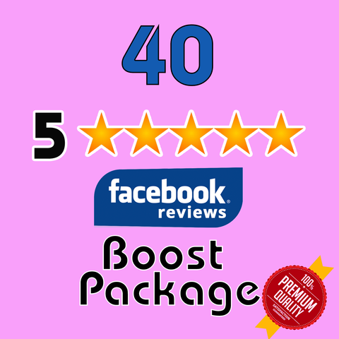 GET 40 Facebook 5 Star Reviews for your page - TryFollowers - Cheapest Services