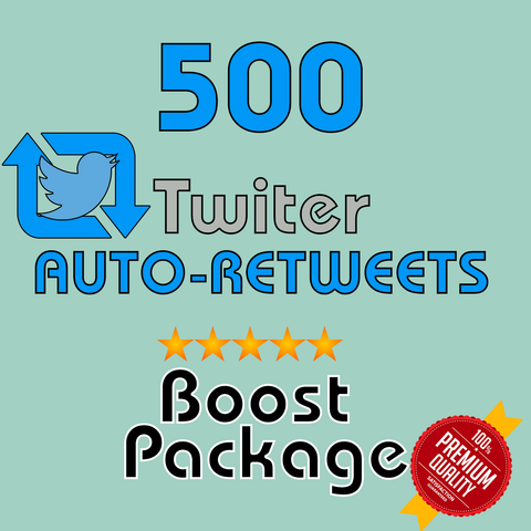 500 Auto-Retweets per post- 30 Day Membership - 10 Posts/day max
