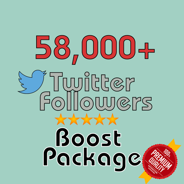 58000 Twitter Followers - buy instagram followers cheap
