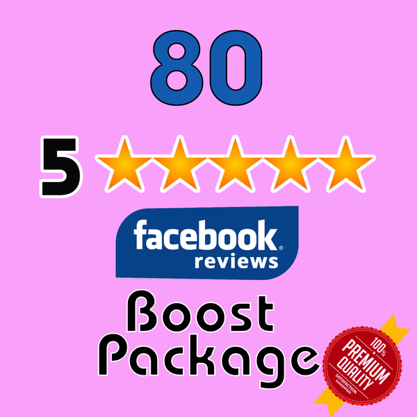 GET 80 Facebook 5 Star Reviews for your page - TryFollowers - Cheapest Services