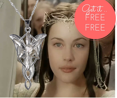 "FREE - ""Lord Of The Hobbit"" Elves Princess Aragorn Arwen Evenstar Pendant Necklaces"