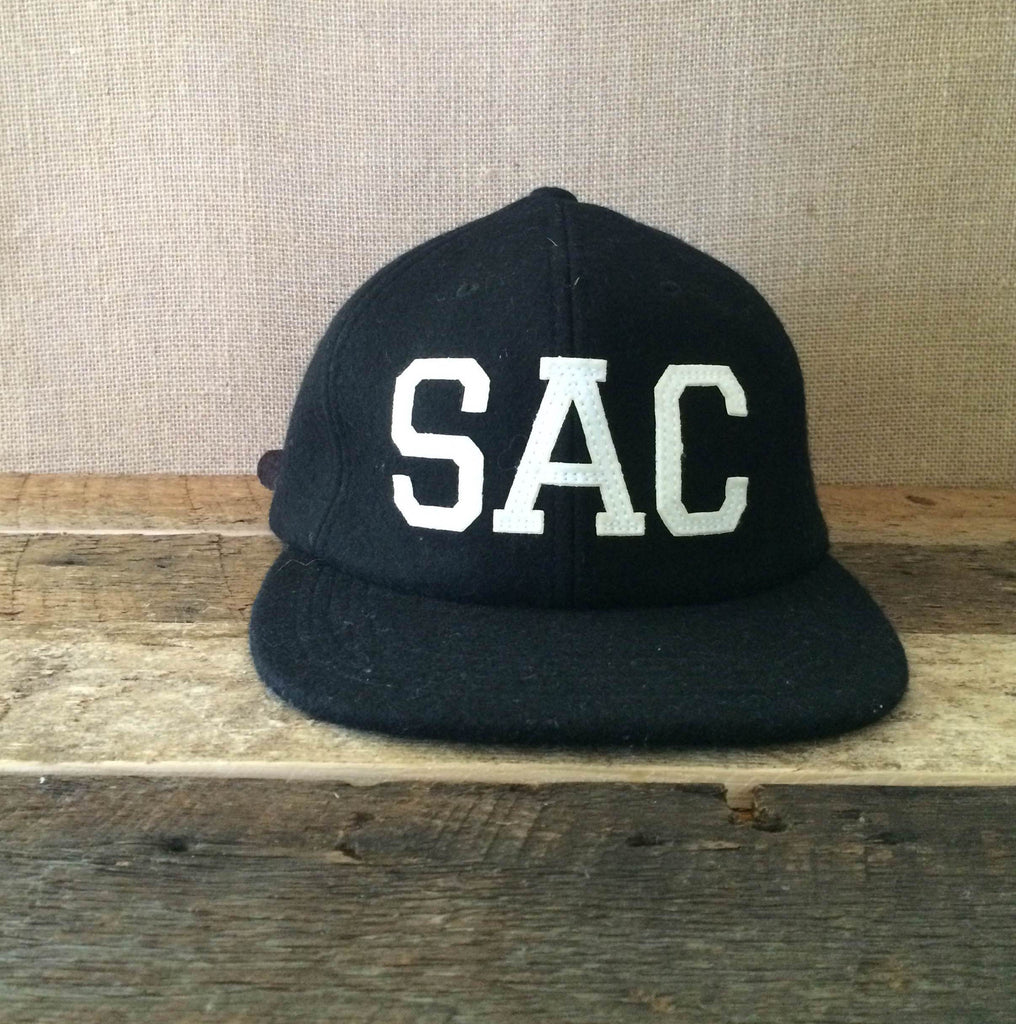 Sutter Supply x Seasoned USA Black Wool Sacramento Baseball Cap