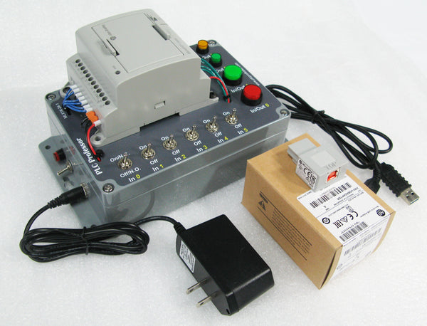 Micro800 for Connected Components Workbench Learning Package - Enhanced Multi-Purpose Inputs and Outputs, USB Adapter, Power Adapter & Cable