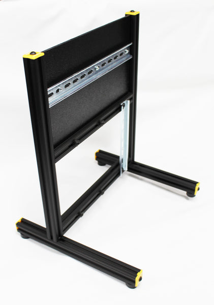 26 - Universal Lab Station Stand - Vertical Back Frame - Add your own Controller-I/O and I/O Simulator