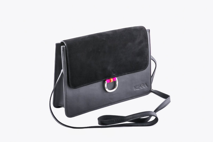 D Ring Cross Body Bag - Black