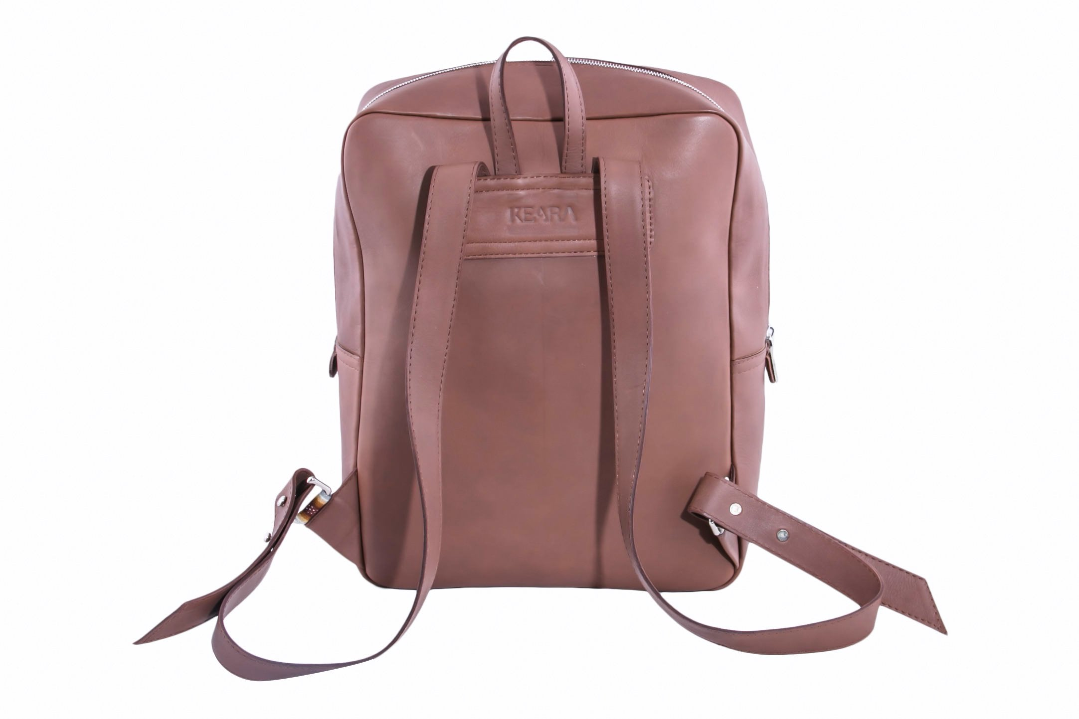 Brown Leather Backpack Back