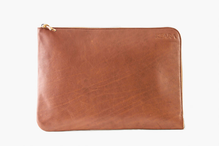 Tan Leather Laptop Case