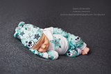 EXCLUSIVE Newborn Baby COMING HOME outfit Anarchy Skull knit beanie shirt pants mittens