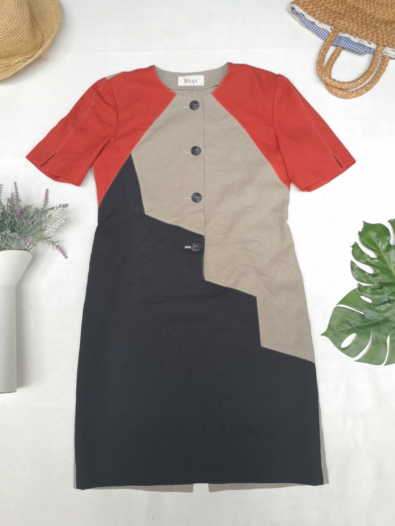 Colour block vintage dress