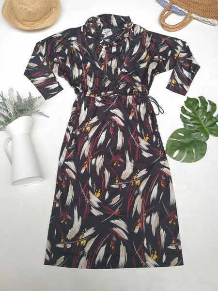 Abstract night vintage dress