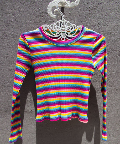 Striped long sleeved tee's