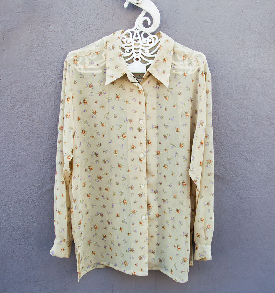 Light Olive/Cream vintage shirt