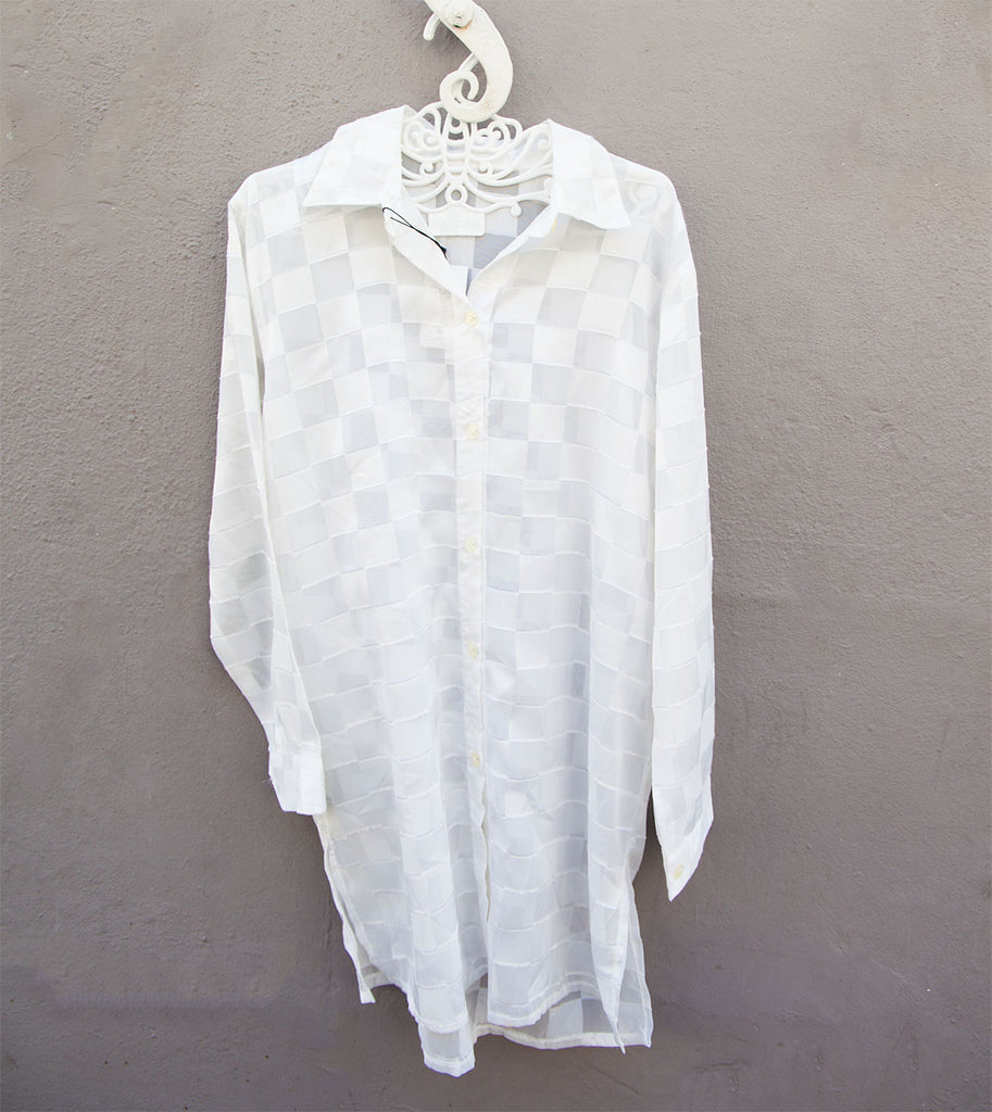 Long white vintage shirt