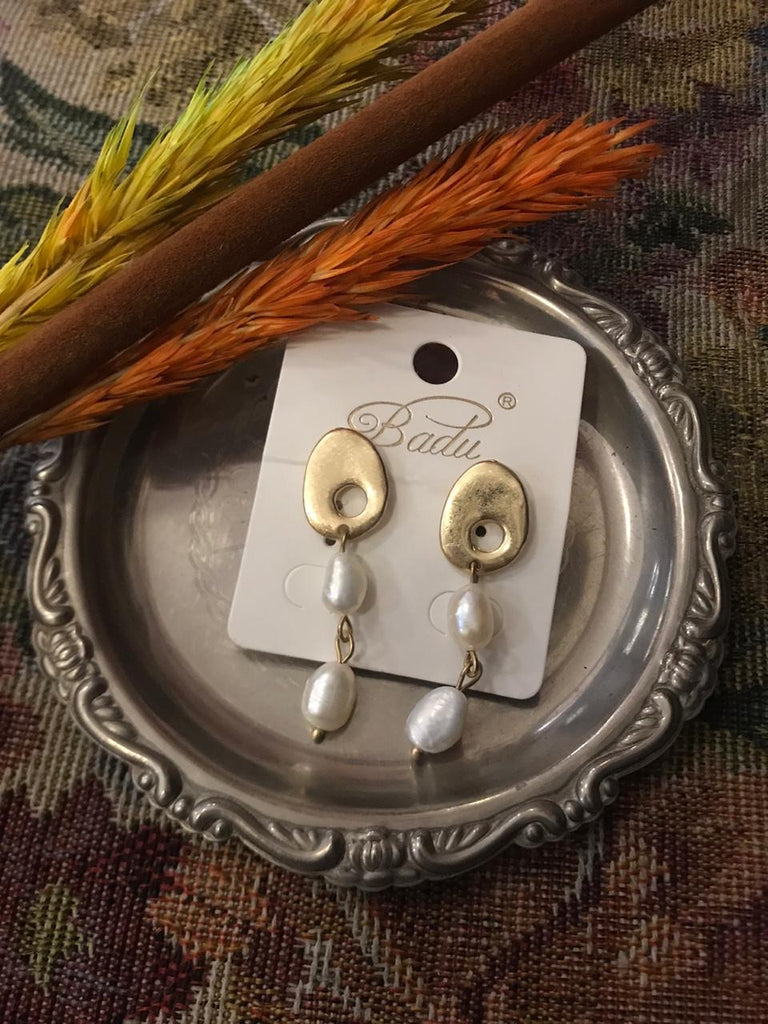 Gold & silver dangling earrings