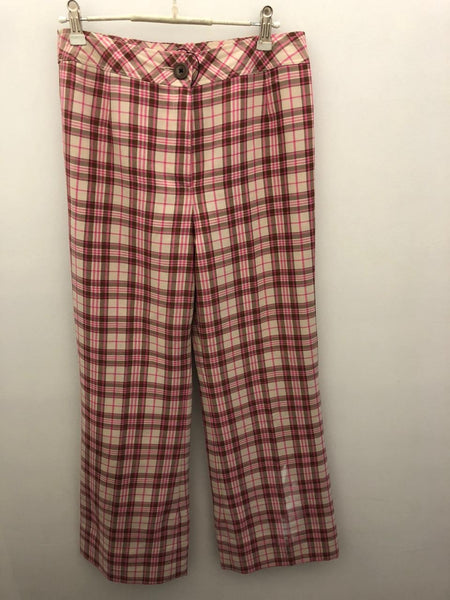 Pink check/stripped vintage pants