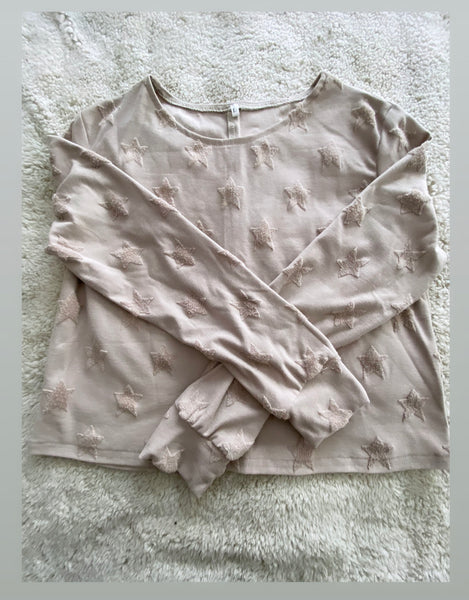 Earth tone star crop top