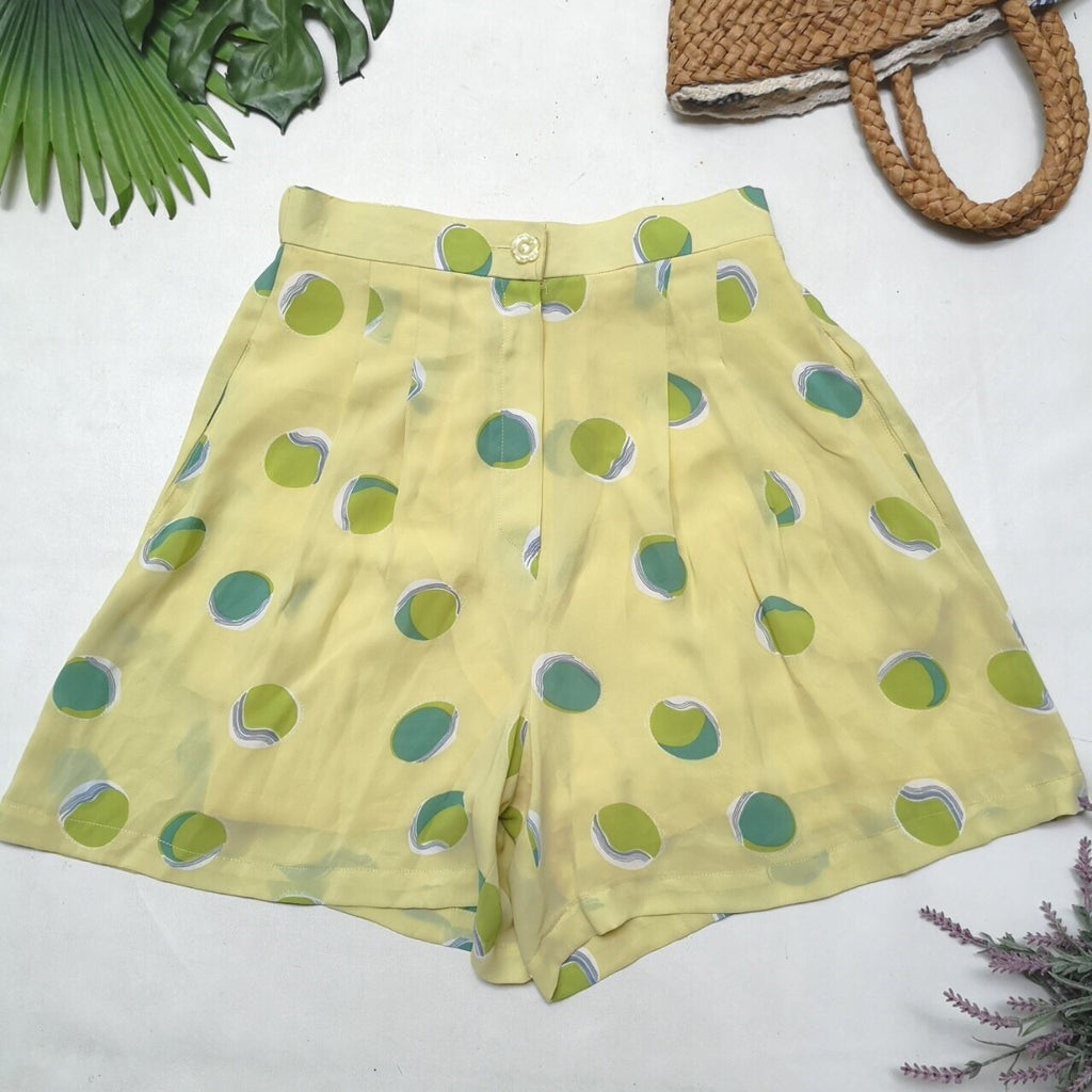 Yellow Patterned Vintage Shorts