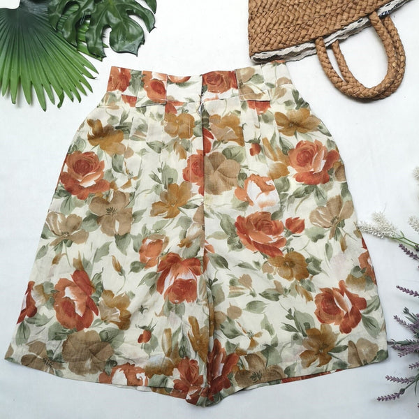 Flower Pattern Vintage shorts