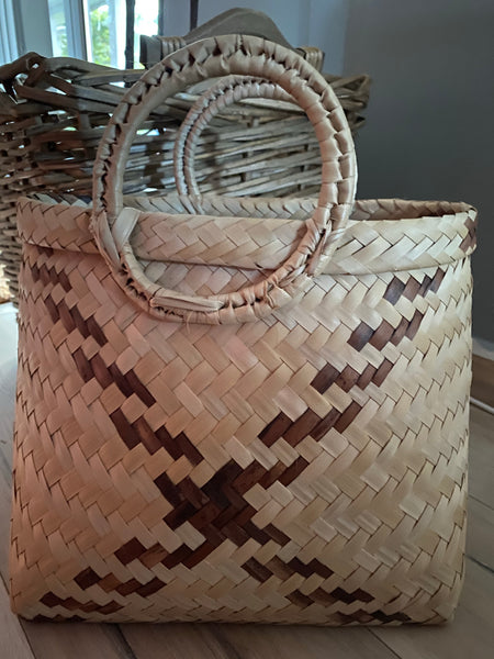 Wicker handbag/beach bag