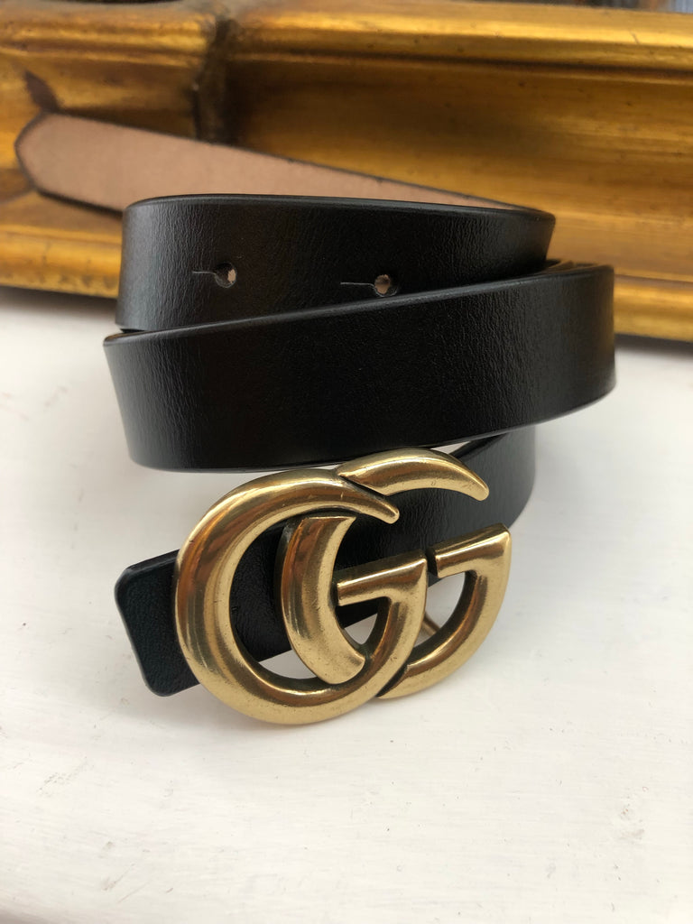 Real Leather GG Belt