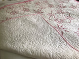 Vintage Pink Embroidery Quilt