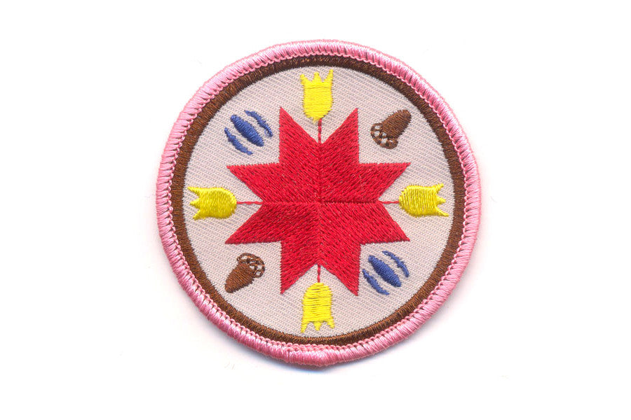 8 Pointed Star Hex Badge