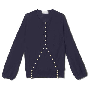 Navy Pearl Criss Cross sweater