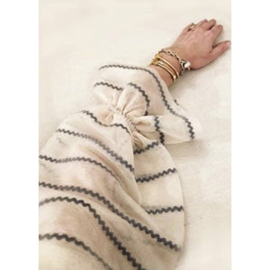 Beige Carousel Sweater - Ric Rac Ribbon stripe