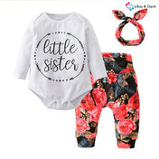 Little Sister Baby Girl's Outfit