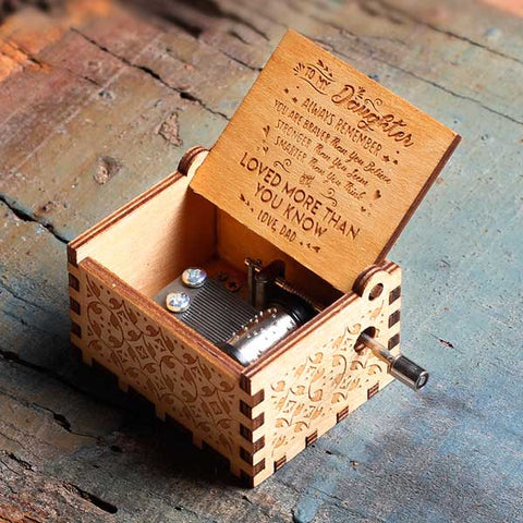 Dad to Daughter - The Engraved Music Box