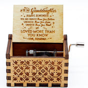 Grandmother To Granddaughter - The Engraved Music Box