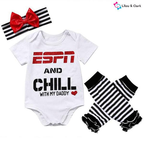 Sports Girl Baby Outfit