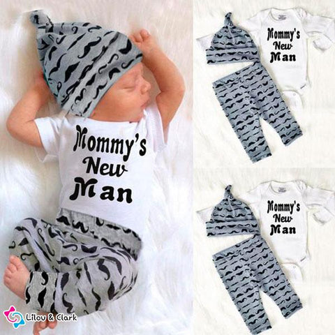 Mommy's New Man Baby Boy's Outfit