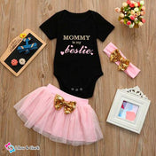 Mommy Is My Bestie Baby Girl's Summer Outfit