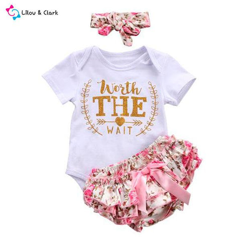 Worth The Wait Baby Girl's Outfit