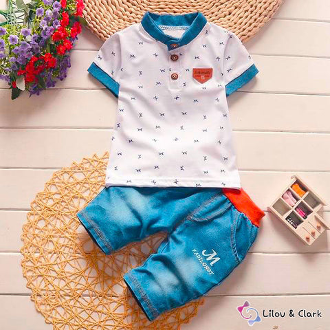 Image of Baby Boy's Casual Jeans & Shirt