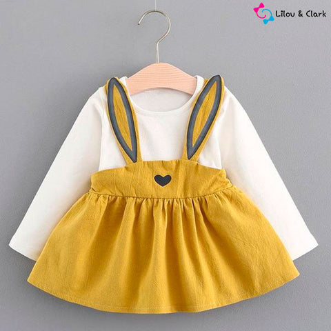 Cute Bunny Baby Girl's Dress