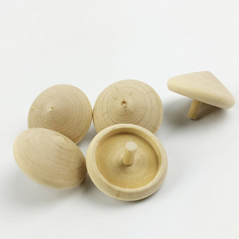 Spinning Top Set of 2 - Handmade Wooden Montessori