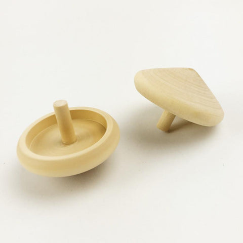 20pcs Wooden Montessori  Spinning Top Set - Handmade
