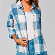 Women's Vintage Style Checked Shirt