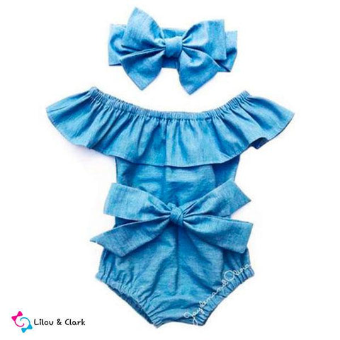 Blue Knot Baby Girl's Summer Outfit