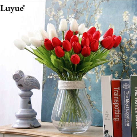 Artificial Real Touch Tulips - 31pcs bouquets