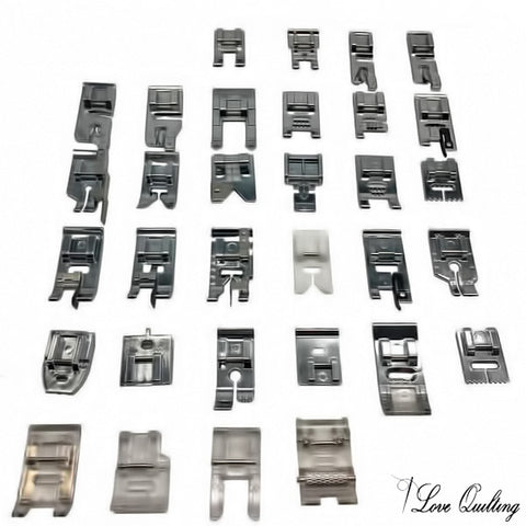 32pcs Presser Feet Set - The Ultimate Sewing Machine Feet Organizer