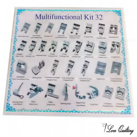 Image of 32pcs Presser Feet Set - The Ultimate Sewing Machine Feet Organizer
