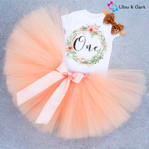 Image of No.1 Princess Baby Girl's First Birthday Set Dress