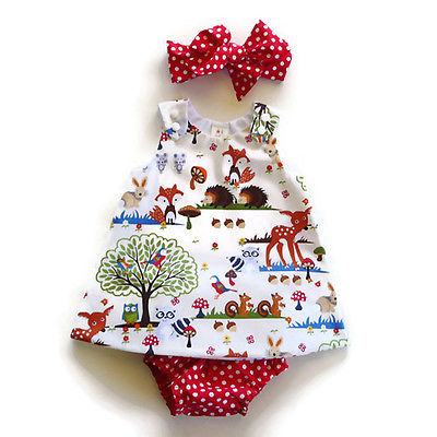 Jolly Woodland 3 Pieces Baby Girl's Set