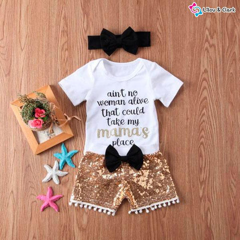 Love Mama Baby Girl's Outfit